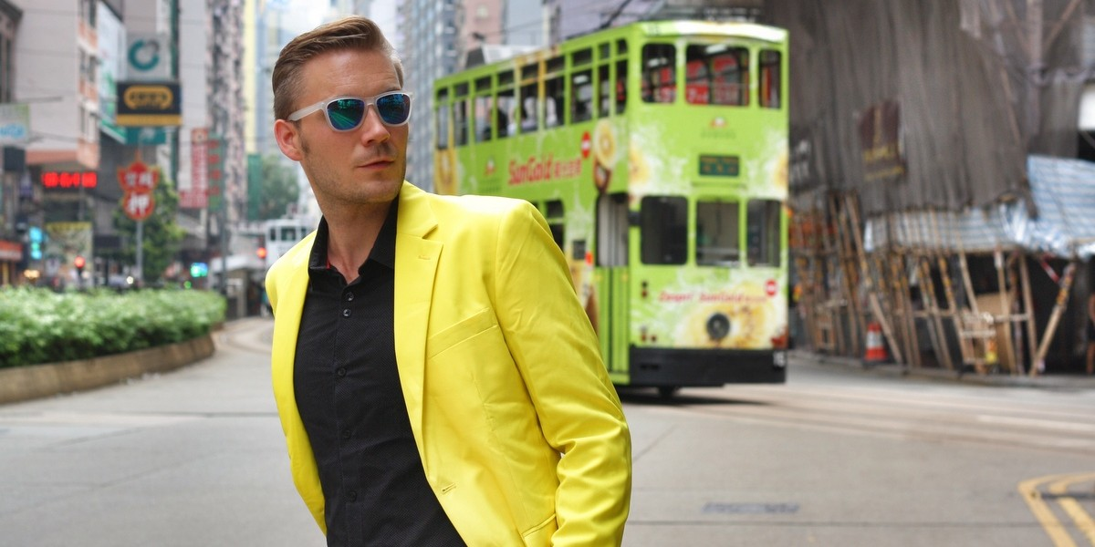yellow suit in Hong Kong 2
